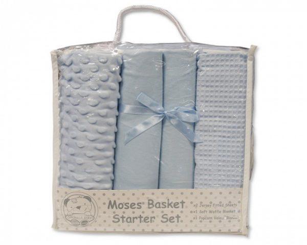 nursery time beddengoed starter set katoen blauw 4 delig 498378 1605522104