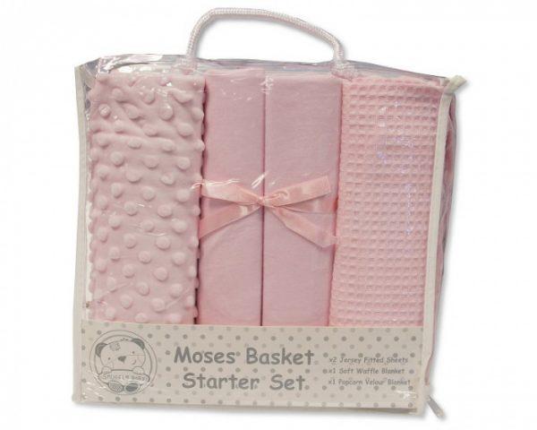 nursery time beddengoed starter set katoen roze 4 delig 498375 1605521997