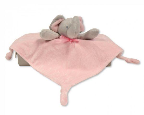 nursery time knuffeldoekje olifant 30 cm polyester roze 517766 1608535608