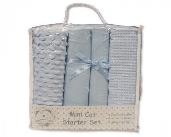nursery time mini kot starter set katoen blauw 4 delig 498407 1605523057