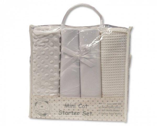 nursery time mini kot starter set katoen wit 4 delig 498409 1605523141