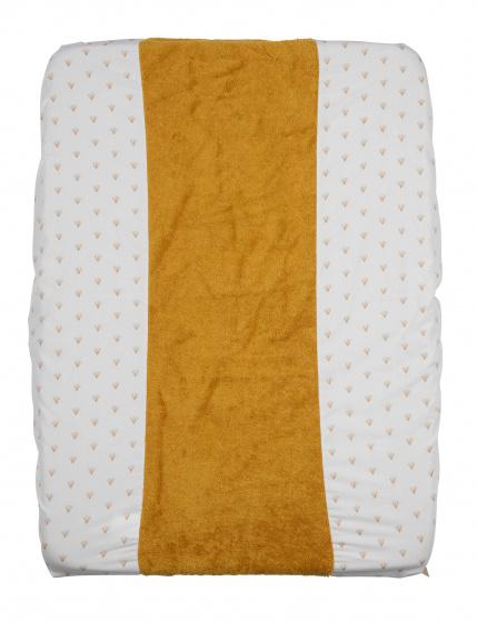 pericles aankleedkussenhoes 70 cm katoen bamboe wit okergeel 500422 1605713951