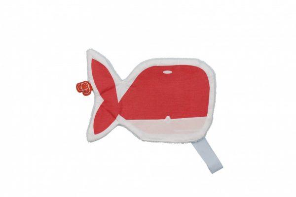 pericles knuffeldoekje oceaan 22 cm grijs rood 338893 1574847346