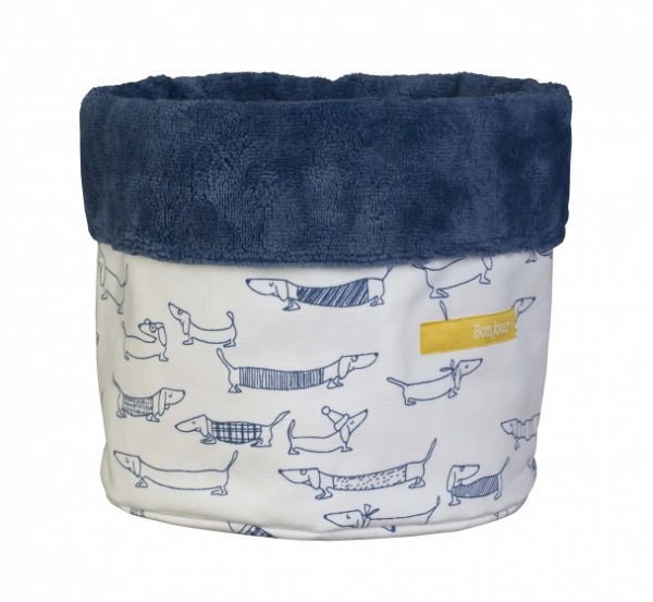 pericles opbergmand hond small 20 cm wit blauw 338167 1574667827