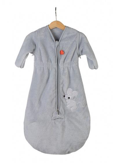 pericles slaapzak met mouwen 70 cm polyester grijs 517765 1608535550