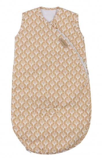 pericles slaapzak mouwloos 70 cm katoen wit bruin 500354 1605710808