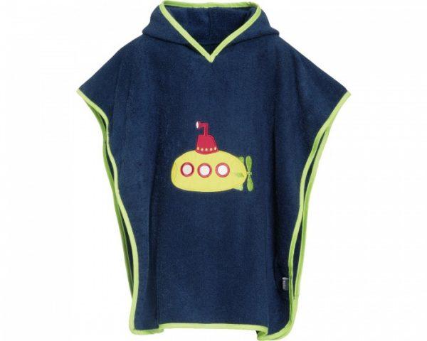 playshoes badponcho onderzeeer donkerblauw junior 297011 1559560232