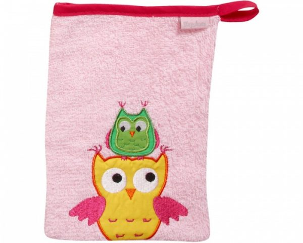 playshoes washand uil 20 cm roze 329090 1572343922