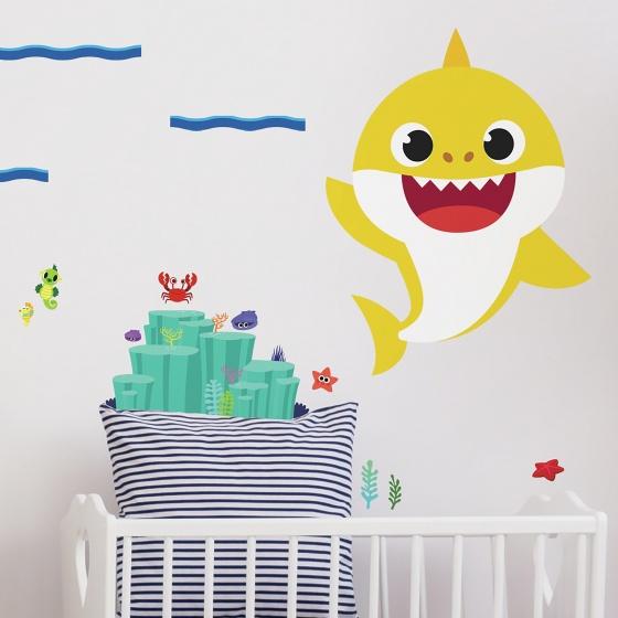 roommates muurstickers baby shark vinyl 20 stuks 2 369459 1583936400