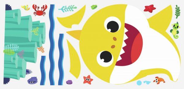 roommates muurstickers baby shark vinyl 20 stuks 369459 1583936399