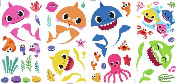 roommates muurstickers baby shark vinyl 39 stuks 369449 1583935681