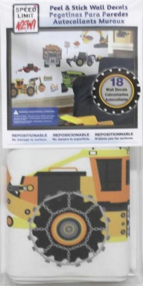 roommates muurstickers construction vehicles vinyl 18 stuks 2 326197 1571813364