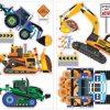 roommates muurstickers construction vehicles vinyl 18 stuks 326197 1571813363