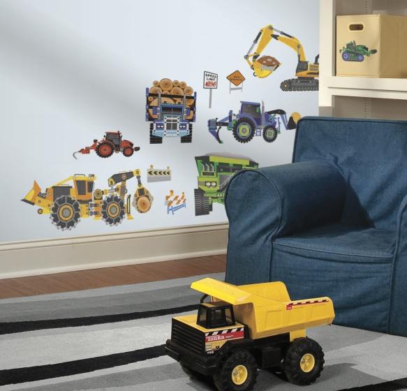 roommates muurstickers construction vehicles vinyl 18 stuks 3 326197 1571813364