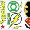 roommates muurstickers dc super heroes vinyl 16 stuks 369238 1583914526