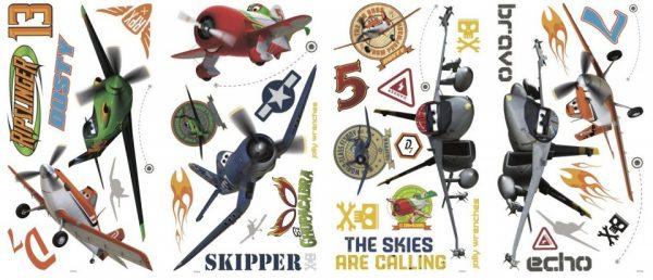roommates muurstickers disney vliegtuigen vinyl 43 stuks 337521 1574411956