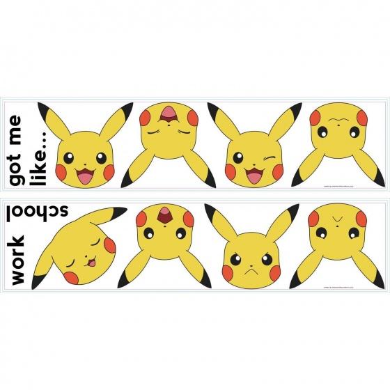 roommates muurstickers pikachu school vinyl 12 stuks 337713 1574427591