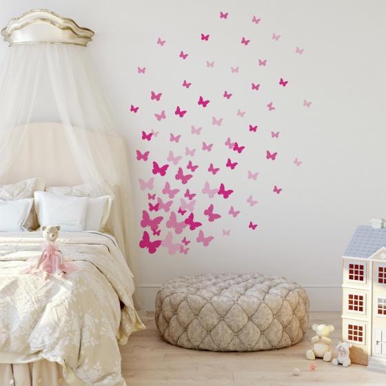 roommates muurstickers pink butterflies vinyl 75 stuks 3 326181 1571811672