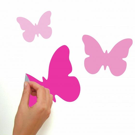 roommates muurstickers pink butterflies vinyl 75 stuks 6 326181 1571811677