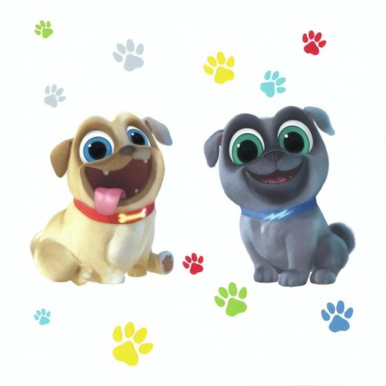 roommates muurstickers puppy dog pals vinyl 13 stuks 339344 1575042618
