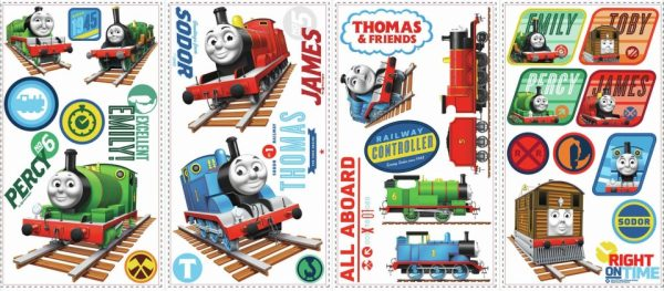 roommates muurstickers thomas de trein vinyl 33 stuks 337485 1574409477