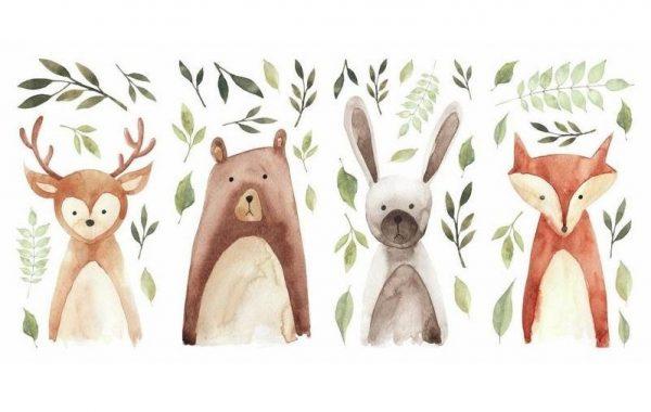 roommates muurstickers woodland animals vinyl 42 stuks 349934 1578407538