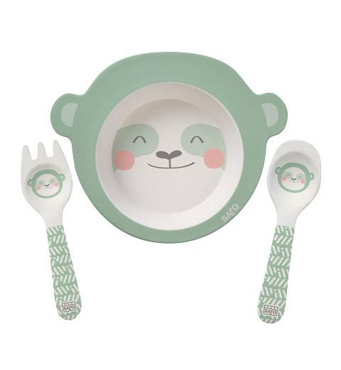 saro eetset little sloth bamboe mintgroen 3 delig 475948 1602679313