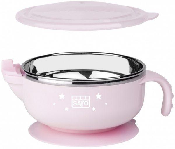 saro warmhoudkom met zuignap 13 cm roze 348793 20201116105226
