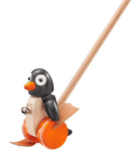 selecta duwstok pinguin pingo junior 56 cm hout zwart wit 432509 1594632735