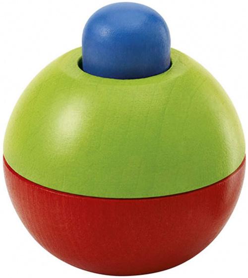 selecta speelbal junior 9 cm hout blauw groen rood 433708 1594736829
