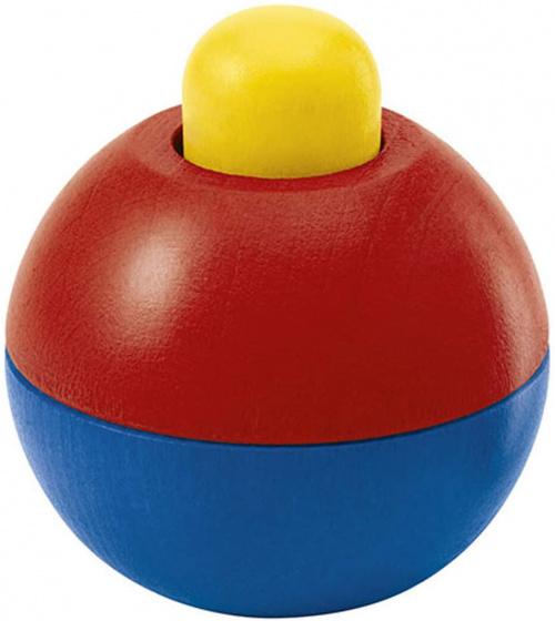 selecta speelbal junior 9 cm hout geel rood blauw 433704 1594736633