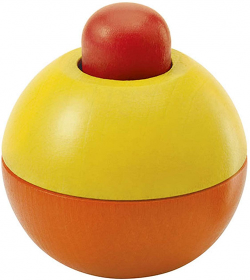 selecta speelbal junior 9 cm hout rood geel oranje 433696 1594736341
