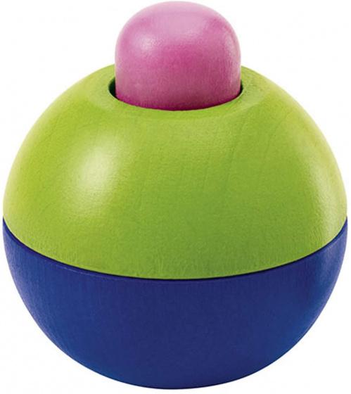 selecta speelbal junior 9 cm hout roze groen blauw 433711 1594737039