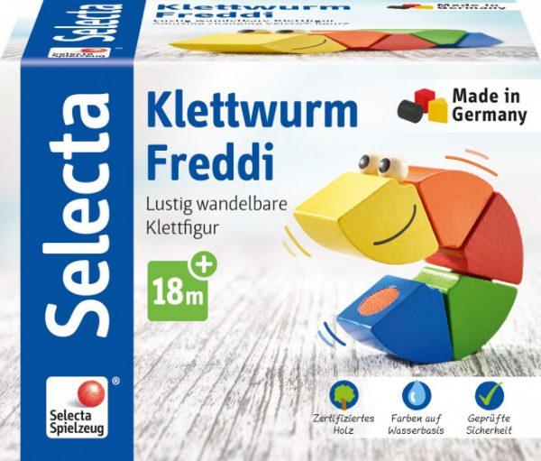 selecta speelfiguur klittenbandworm freddi 16 cm hout 5 delig 3 432267 1594621647
