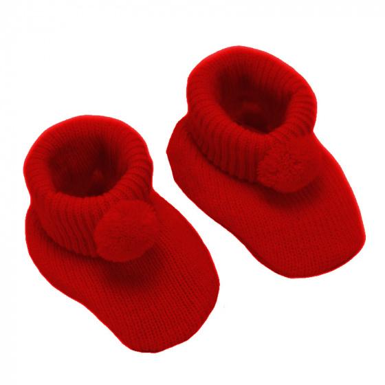 soft touch babyslofjes pompom 0 3 maanden junior rood 375499 20200401091217