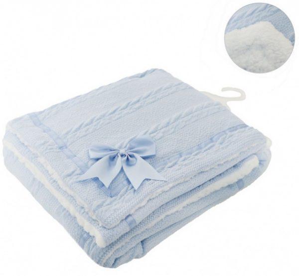soft touch deken cheveron junior wol blauw 467461 1601362585