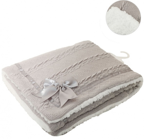 soft touch deken cheveron junior wol grijs 467480 1601363226