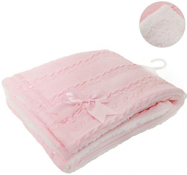 soft touch deken cheveron junior wol roze 467471 1601362874