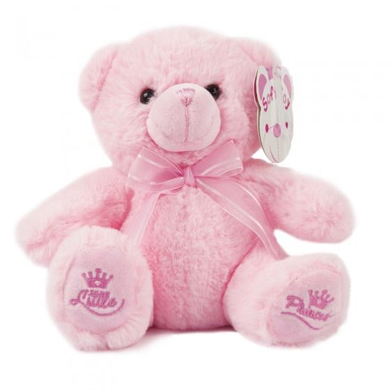 soft touch knuffelbeer little princess 18 cm roze 338642 1574765791