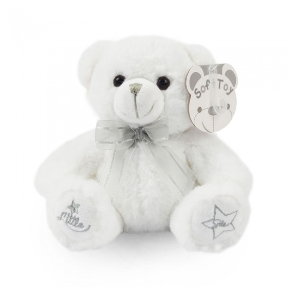 soft touch knuffelbeer little star 18 cm wit 338647 1574766180