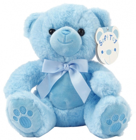 soft touch knuffelbeer paws 20 cm blauw 338569 20191126104654
