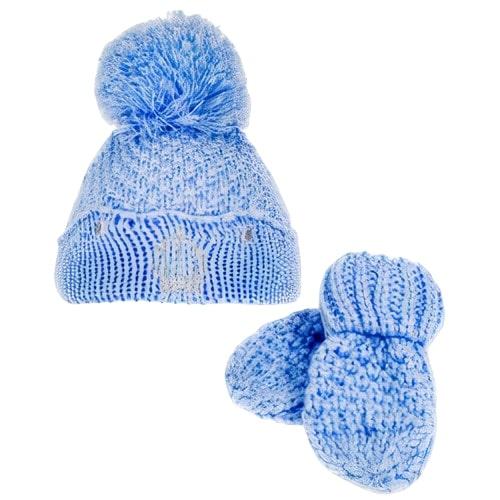 soft touch muts en handschoenen jongens polyester blauw 2 delig 470608 1601708144
