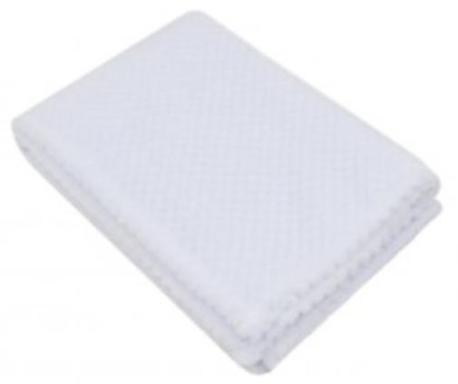 soft touch wikkeldeken white waffle junior100 cm fleece wit 439645 1595841760
