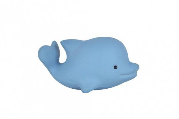 tikiri bijt en badspeeltje met rammelaar dolfijn 11 cm blauw 327590 1572012996